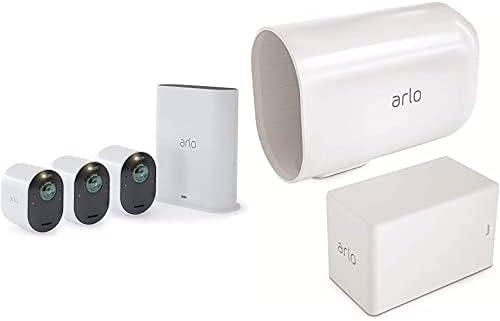 3 Caméras Ultra 4K Hdr Avec Station D'Acceuil et Batterie Additionnelle Et...