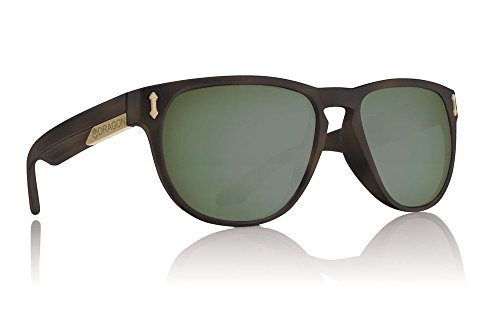 Dragon Mens Marquis Polarized Large Fit Sunglasses, Matte Tortoise/Green G15, OS