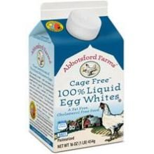 Abbotsford Farms Cage Free Pasteurized Liquid Egg Whites, 16 Ounce -- 12 per case.