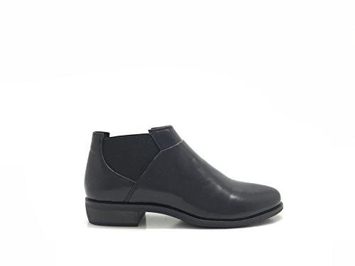 Sur Chic Similicuir Richelieu Nana Élastique Chaussure Les Deux Facile Style Derbie À Noir Cotés Femme Enfiler aw4Panqr