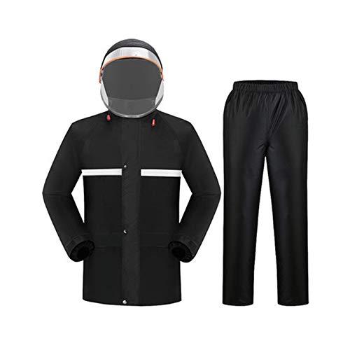 Noir XXXL HBWJSH Le Pantalon de Pluie imperméable Convient aux Hommes et Femmes Adultes. (Couleur   Vibrant Orange, Taille   L)