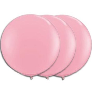 36 Inch Giant Round Light pink Baby pink Latex Balloons by TUFTEX (Premium Helium Quality) Pkg/3 (36 Inch Latex Balloon Peach)