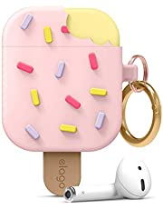 elago Ice Cream AirPods Case with Keychain Designed for Apple AirPods 1 & 2 (Strawberry)