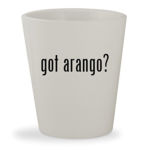got arango? - White Ceramic 1.5oz Shot Glass - Los Arango Tequila