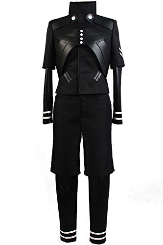 Halloween Tokyo Ghoul (Cosplaysky Tokyo Ghoul Costume Ken Kaneki Cosplay Jumpsuit Battle Black Halloween Uniform)