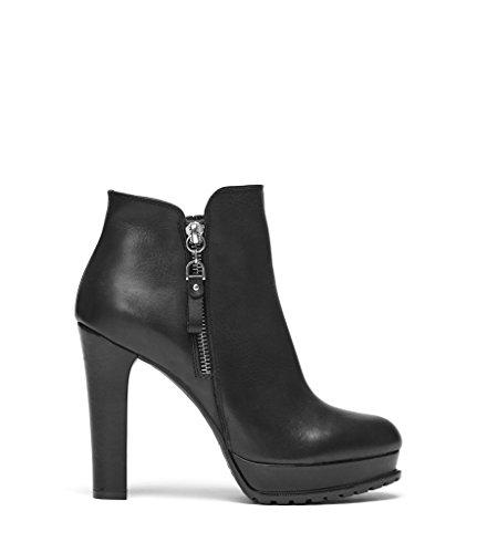 PoiLei Plateau Stiefelette Damen Zoe Leder Ankle Boot schwarz