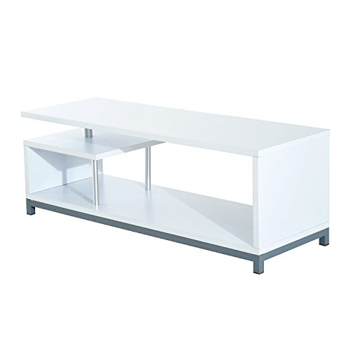 HomCom 45' Contemporary Modern TV Media Stand Console (White)