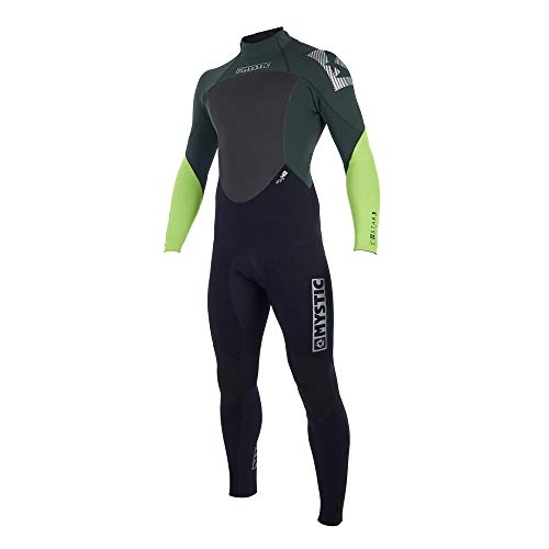 Mystic Watersports - Surf Kitesurf & Windsurfing Star 4/3MM GBS Back Zip Wetsuit Teal - ?Critical Taping Inside - Easy Stretch