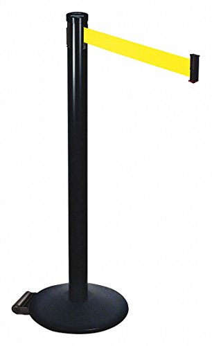 Barrier Post,2 in. Belt W,10 ft. Belt ()