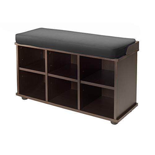 Storage Manhattan Black Bench - Winsome 92633 Townsend Bench, Dark Espresso