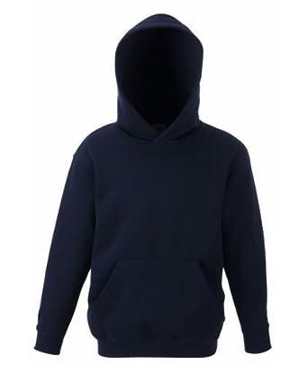 f832fb5e5e8 New Navy Kids Hoodies Pullover Sweatshirt Top Plain Boys Girls 7 8 Years   Amazon.co.uk  Clothing