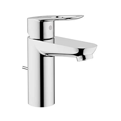 Grohe 23 084 BauLoop Single Hole Bathroom Faucet with SilkMove and WaterCare Tec,