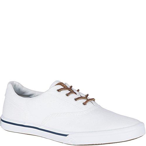 Sperry Top-Sider Men's Striper II CVO Washed Sneaker, White, 10 Medium US