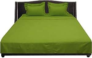 Brightlinen Parrot Green Emperor (215 X 215 Cm) Sheet Set Solid(pocket Size: 38 Cm) 6pcs