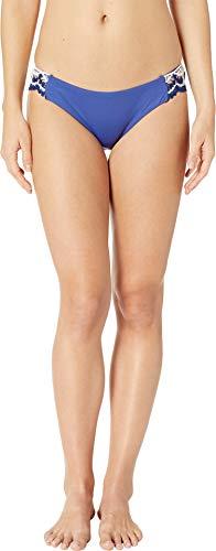 - Becca by Rebecca Virtue Women's Tab Side Hipster Bikini Bottom Blue Topaz M