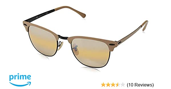 Ray-Ban RB3716 Clubmaster Metal Square Sunglasses