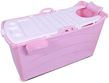 シャワーストールポータブルバスタブアダルト折りたたみバスタブ、バスルームポータブルホットタブのためのタブを浸します (Color : Pink, Size : B)