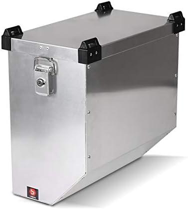 Maleta Lateral de Aluminio para Motos para Benelli TRK 502/ TRK 502 X Bagtecs Atlas 36l Bolsa Lateral