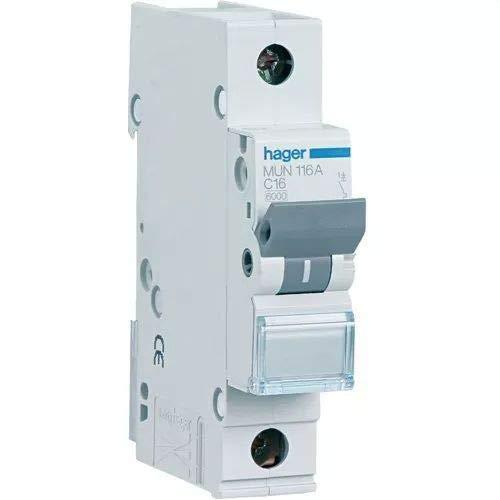 2P Hager MUN220A Interruptor Autom/ático Magnetot/érmico Serie MU 6KA 20A curva C