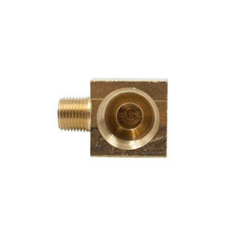 Legines Brass Inverted Flare Fitting, Barstock Brake Line 90 Degree Male Elbow, 3/8