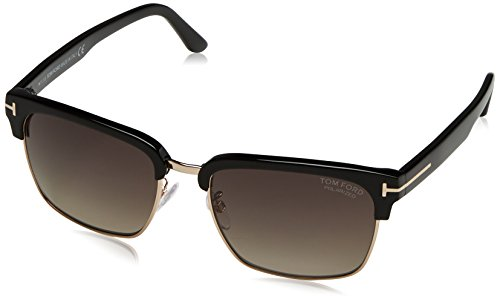 Tom Ford TF367 01D Black River Clubmaster Sunglasses Polarised Lens Category - Tom Accessories Men Ford