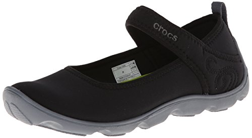 crocs Duet Busy Day GS Mary Jane (Little Kid/Big Kid),Black/Charcoal,1 M US Little Kid