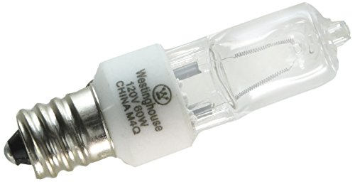 - Westinghouse 0624500, 60w T3 Incandescent Single-End Xenon Krypton Clear E12 (Candelabra) Base, 120v