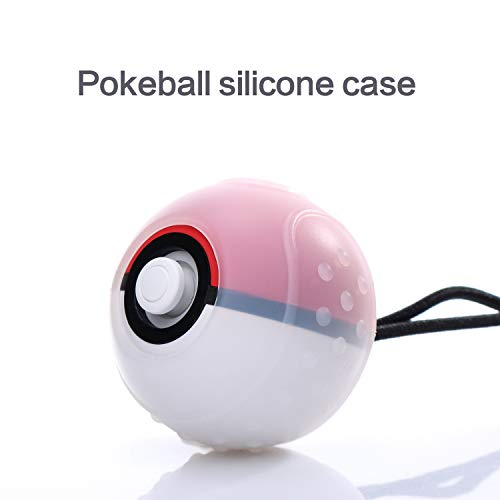 Silicone Grip Case for Poke Ball Plus Controller, Accessories Rubber Skin Protective Cover Case Compatible with Nintendo Switch Pokemon Lets Go Pikachu Lets Go Eevee Poke Ball Plus - Clear