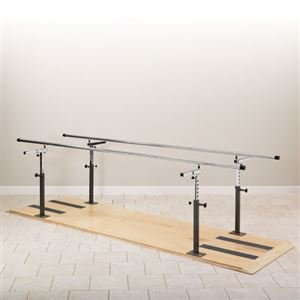 MSEC, Rehabilitation Bars, 7' Length, Height & Width Adjustable Parallel Bars, Platform mounted, 400 lb capacity,