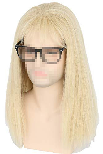 Topcosplay Inspired by Waynes World Garth Algar Wig 80s Mullet Wig Punk Metal Rocker Guy ()