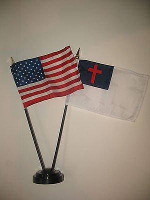 USA American w/ Christ Christian Flag 4