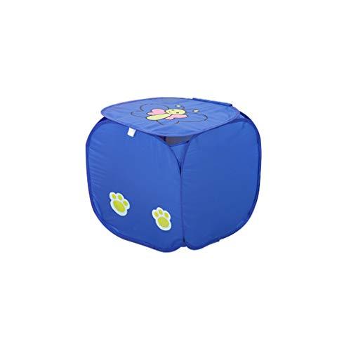 IslandseFoldable Up Washing Laundry Basket Bag Hamper Mesh Storage Foldable Basket (Blue)