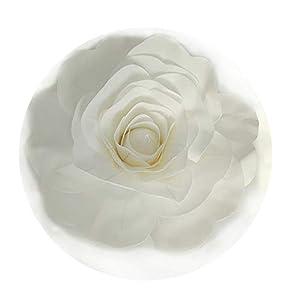 DraFenn Large Foam Fake Flowers Artificial Roses Wedding Flower Wall Wedding Window Background Layout,White,40Cm 106