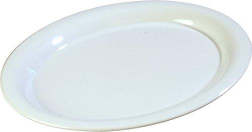 Carlisle 4308002 Durus Melamine Oval Serving / Dinner Platter, 13.5