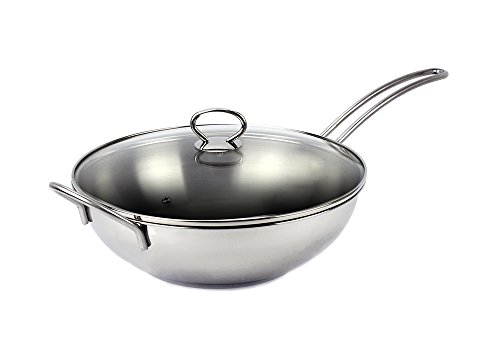 Excelife Jb Cookware Stainless Steel Induction Wok Pan 13