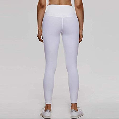 FRAUIT Leggins Donna Fitness Skinny Eleganti Pantaloni Vita Alta Yoga Pants Elastico Pantaloni Allenamento Athletic Leggings Running Sportivi Esecuzione Gym Palestra