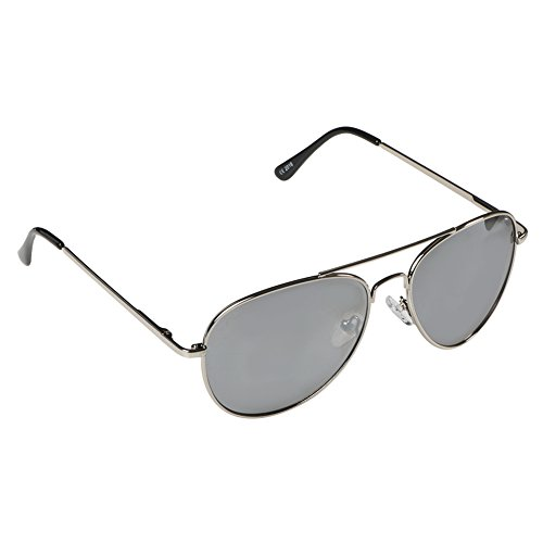 Pro Pilot Sunglasses | Lightweight Polarized Mirrored Aviator Sunglasses for Women and Men | Sturdy Steel Alloy Frame Shatterproof Cool Dark UV 400 Protection Mirror Lens | Silver | - Eyes Do Sunglasses Polarized Your Protect