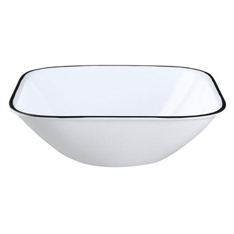 amazon com corelle square simple lines 22 ounce bowl set pack of
