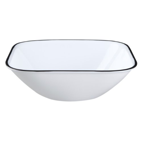 Corelle Square Simple Lines 22-Ounce Bowl Set (6-Piece) (Square Cereal Bowl)