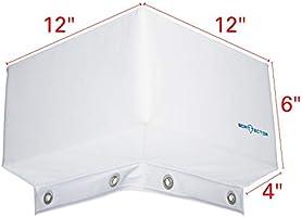 "Extreme Max 3006.7333 BoatTector Dock Corner Bumper 12/"" x 9/"" x 4/"" White"