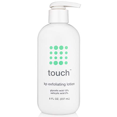 Touch Keratosis Pilaris Treatment with 12% Glycolic Acid & 2% Salicylic Acid - AHA & BHA Exfoliating Rough & Bumpy Skin Body Lotion - Moisturizing Cream Gets Rid Of Redness, KP, Body Acne - 8 Ounce