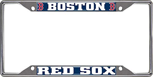 (Aiden Eletina Boston Red Sox Chrome Frame Metal License Plate Tag Cover Baseball )