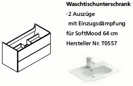 Lanzet C7 Waschtischunterbau für SoftMood 64, Pinie