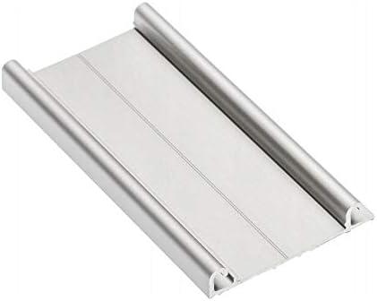 1 riel inferior de aluminio de 3 m para puertas correderas de armario, color plateado: Amazon.es: Bricolaje y herramientas