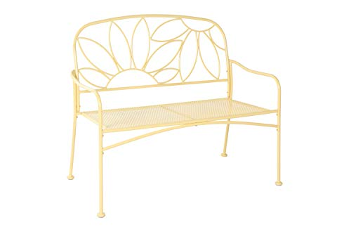 Liberty Garden Patio S-K-140PBN Bright & Fun Bench, Yellow