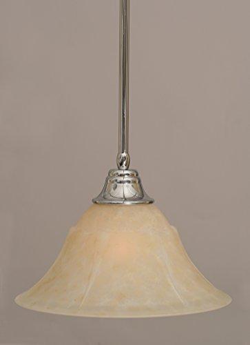 53313 Stem Pendant - Stem Pendant w 14 in. Amber Marble Glass