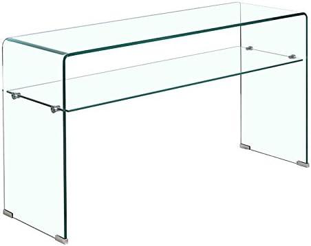 Consola de Vidrio Templado - Estante Transparente - Mesa de ...