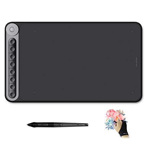 Huion Inspiroy Dial Q620M Graphics Drawing Tablet 10 x 6 Inch Art Tablets, 8 Press Keys and Dial Controller, Tilt Function, 8192 Battery-Free Pen, Android Supported