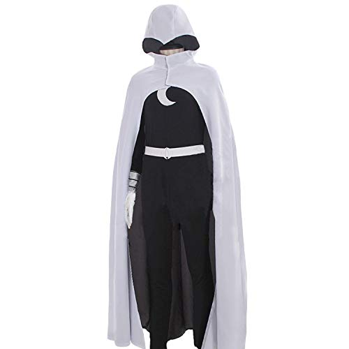 Adult White Uniform for Knight Warrior Cosplay Costume with Cloak Halloween ()