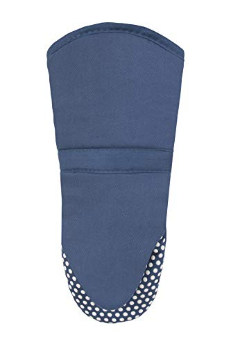 RITZ Royale Cotton Twill Puppet Oven Mitt with Silicone Dot Non-Slip Grip, 13-inch, Federal Blue